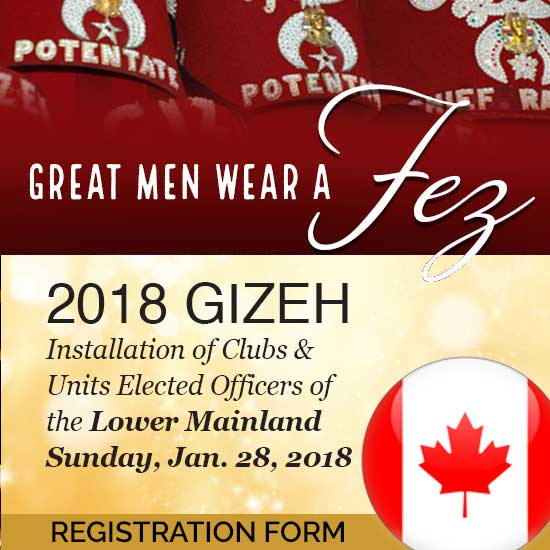 2018 Lower Mainland Installation of Officers