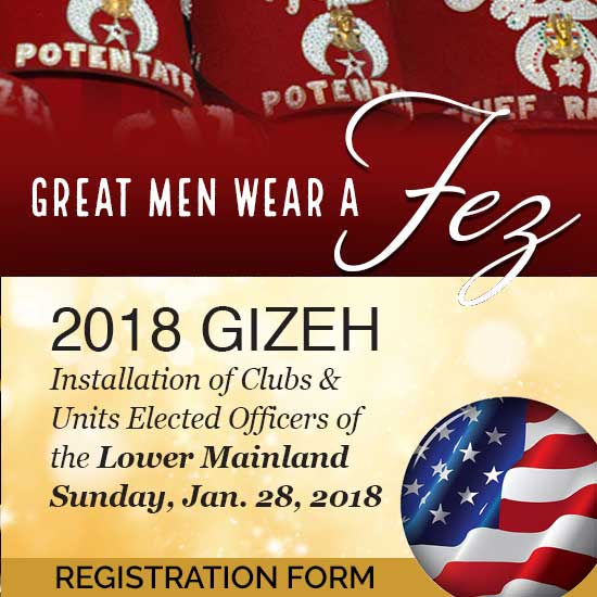 2018 Lower Mainland Installation of Officers - US Registration
