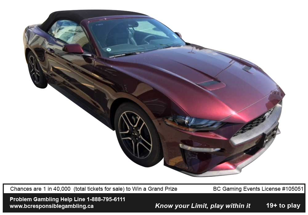 2018 Shriners' Draw for Kids - Ford Mustang
