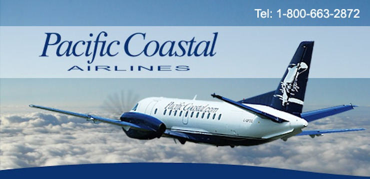Pacific Coastal Airlines - System Return Flight for Two