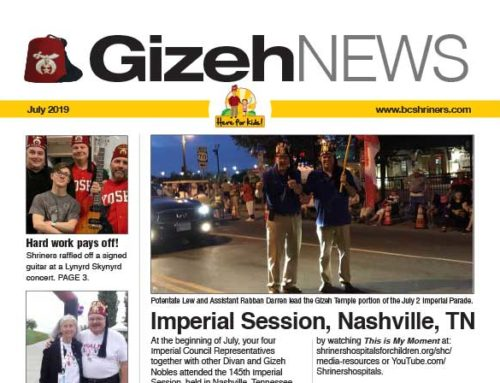 Gizeh News – July 2019