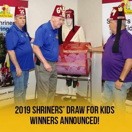 Shriners Draw for Kids 2019