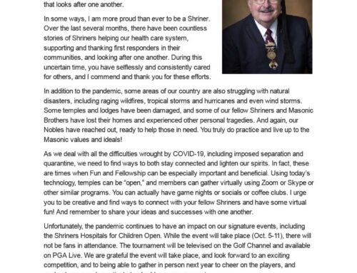 A Message from Jim Smith, Imperial Potentate